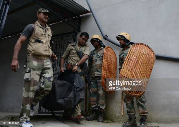 This picture taken on June 15 2017 shows Indian police officer Amitava Malik who was killed during a gunfight between West Bengal police and...
