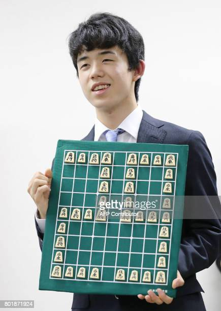 This picture taken on June 26 2017 shows junior high school student Sota Fujii posing for photographers in Tokyo after breaking a 30yearold record...