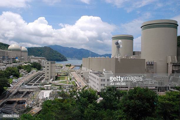 This picture taken on June 27 2013 shows Kansai Electric Power Co Takahama nuclear plant in Takahama in Fukui prefecture western Japan Japan's...