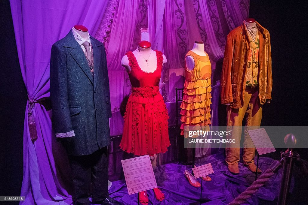 This picture taken on June 29, 2016 shows costumes that appeared throughout the Harry Potter films at Harry Potter - The Exhibition in Brussels. / AFP / BELGA / LAURIE DIEFFEMBACQ / Belgium OUT