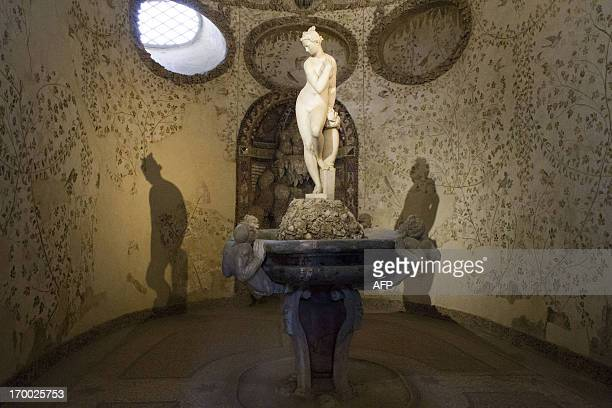 This picture taken on June 6 2013 shows the grotto del Buontalenti in the Boboli garden in Florence The grotto del Buontalenti in the Boboli garden...