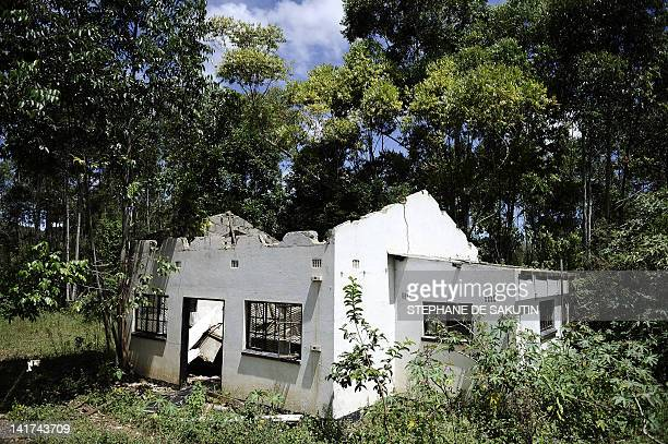 This picture taken on March 1 2012 shows an old abandoned house in Bulembu Lost in the mountains of Swaziland Bulembu became a ghost town when the...
