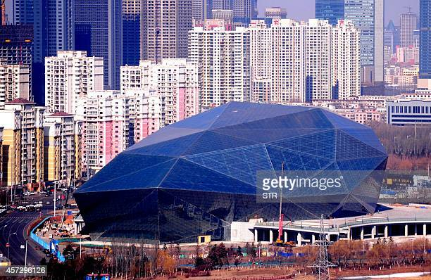 This picture taken on March 1 2014 shows the Shenyang Culture and Art center in Shenyang northeast China's Liaoning province China's President Xi...