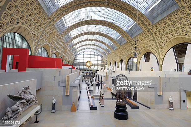 This picture taken on March 9 2009 in Paris shows part of the Musee d'Orsay in Paris Worldrenowned Italian architect Gae Aulenti whose creations...