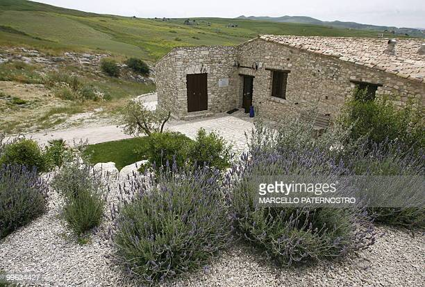 This picture taken on May 14 2010 near Corleone on the Italian island of Sicily shows the 'Terre di Corleone' a bed and breakfast built on a land...