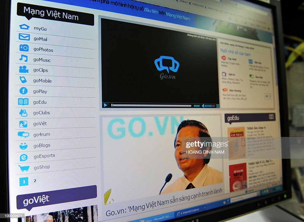 This picture taken on May 20, 2010 shows the home page of the Vietnam's pilot social networking site go.vn which has just been launched. The Vietnamese government has launched its own social networking site, after allegations that it restricted Facebook and haked numerous websites with political content. A pilot version of the go.vn site (www.goonline.vn) was launched on May 19, 2010 and is the country's biggest-ever IT project, a notice on the website said . AFP PHOTO/HOANG DINH Nam