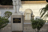This picture taken on May 20 2013 shows the statue of Indian doctor Dwarkanath Shantaram Kotnis one of five Indian physicians dispatched to China to...