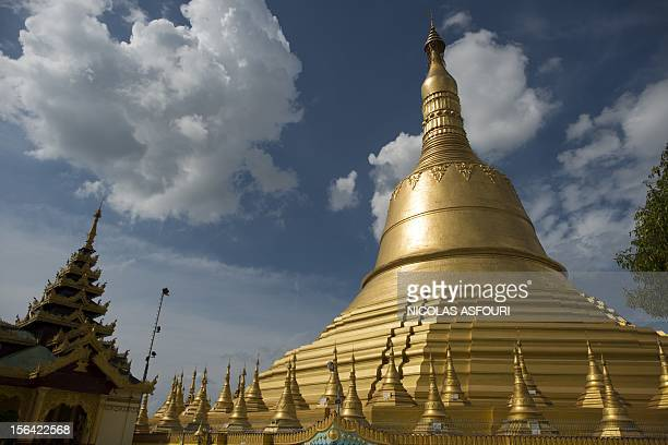 This picture taken on November 14 2012 shows the Shwe Mawdaw Pagoda in Bago Myanmar's government has said it 'warmly welcomes' the historic visit of...
