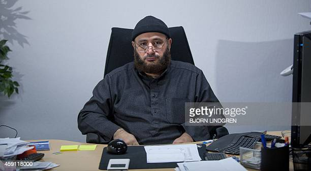 This picture taken on November 14 2014 shows Oussama elSaadi chairman of the mosque at Grimhojvej outside of Aarhus Denmark's jihadist rehab homework...