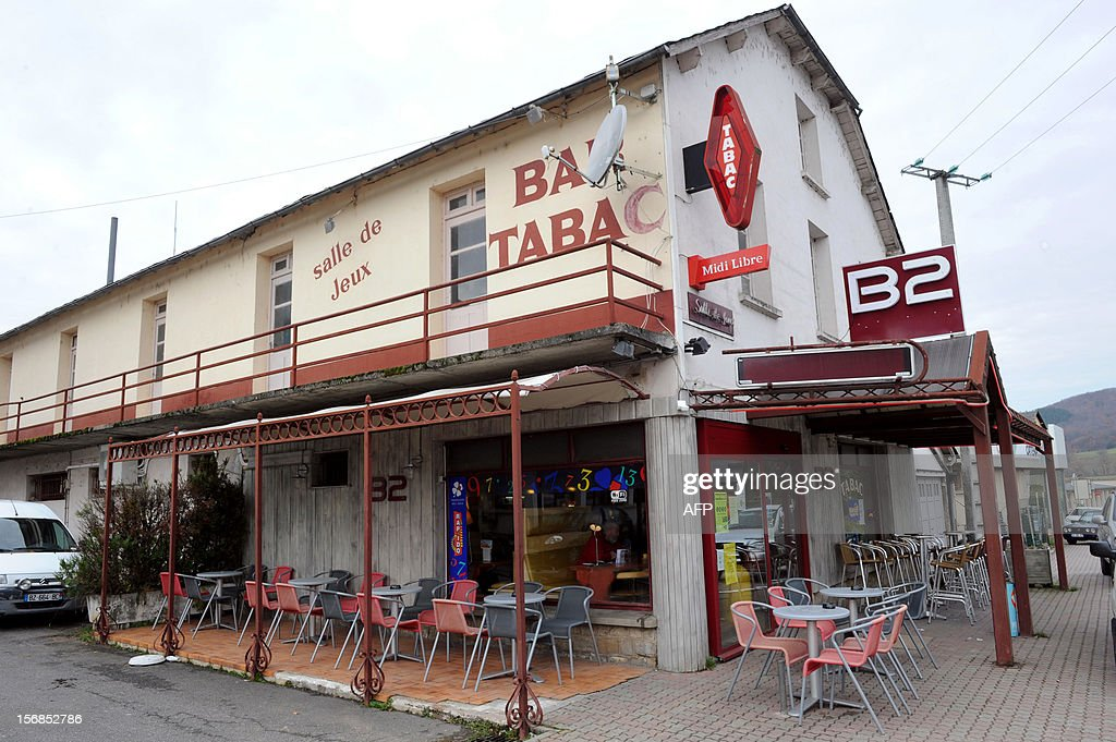 This picture taken on November 23, 2012 shows a cafe in the village of Banassac, southern France, where kidnapped Gilberto Rodriguez Leal used to come. The Movement for Oneness and Jihad in West Africa (MUJAO), one of the Islamist groups occupying northern Mali on November 22 claimed responsibility for the kidnapping of 61-year old Gilberto Rodriguez Leal, who was born in Portugal but is a French citizen, living in Le Segala quarter of Banassac. Gilberto Rodigriguez Leal was travelling from Mauritania to Mali with his camping car when he was kidnapped.