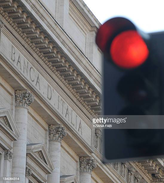This picture taken on November 25 2011 shows the building of the Bank of Italy in Rome The Bank of Italy was forced to pay recordhigh rates the same...