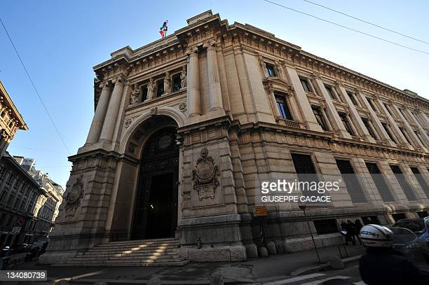 This picture taken on November 25 2011 shows the offices of the Bank of Italy in Milan The Bank of Italy was forced to pay recordhigh rates the same...