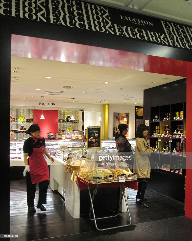 This picture taken on November 5, 2013 shows an outlet of the luxury French brand Fauchon at the Takashimaya department store in Tokyo. Japan's hotels, restaurants and food shops were being warned over dishonest labelling amid a growing scandal that is threatening to undermine the country's reputation for safe, high-quality produce.
