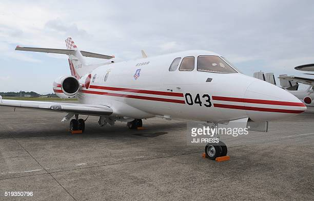 This picture taken on October 19 2008 shows a Japan Air SelfDefense Force U125 aircraft similar to the aircraft that went missing on April 6 at an...