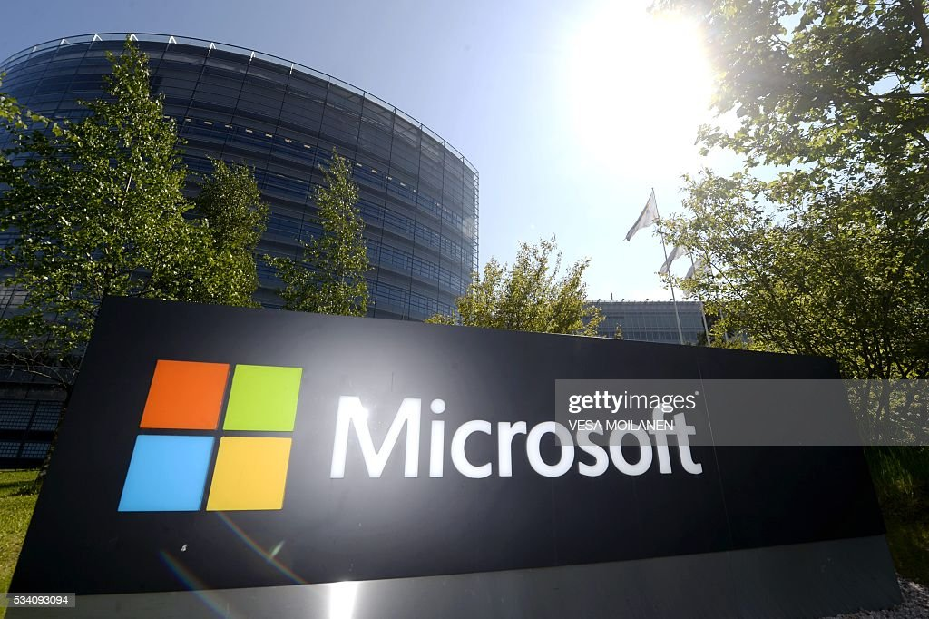 This picture taken on on May 25, 2016 shows Microsoft's Finnish headquarters in Espoo. Microsoft has announced it is shutting down mobile device research and development operations in Finland with the loss of some 1,350 jobs. The company bought Nokia's mobile phone business in 2014 but has failed to make it profitable. Last year the firm announced the closure of the Salo site with the loss of 2,300 jobs. / AFP / Lehtikuva / Vesa Moilanen / Finland OUT