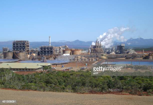 This picture taken on September 14 2013 shows Brazilian group Vale's nickel treatment chemical plant in southern New Caledonia The plant will stop...