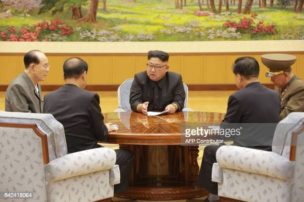 TOPSHOT This picture taken on September 3 2017 and released by North Korea's official Korean Central News Agency on September 4 2017 shows North...
