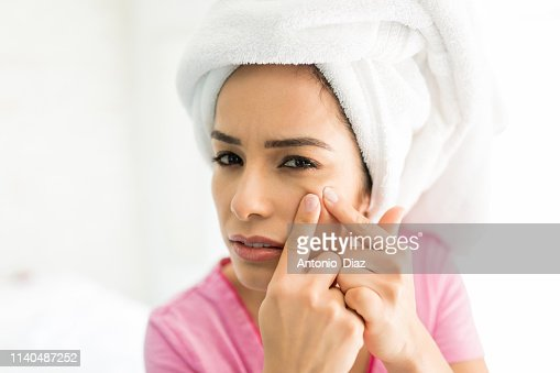 This Pimple Is Such A Pain : Stock Photo