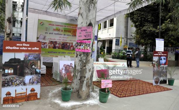 This polling station in Civil Lines is one of the nine model polling stations introduced for the first time by Delhi electoral office for an enhanced...