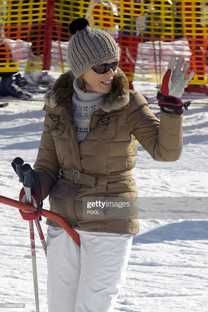 This pool picture, distributed by the Belgian Royal Palace on February 22, 2012 shows Belgium's Princess Mathilde enjoying the ski holiday in Verbier, Switzerland, on February 21, 2012. Prince Philippe and Princess Mathilde and their children spend the Carnival holidays in Switzerland. Princes Elisabeth (10), Prince Gabriel (8) and Prince Emmanuel (6) are good skiers, as are their parents. Princess Eleonore (3) takes her first steps on skis. The family arrived in Verbier on Saturday 18 February, like the majority of Belgians who take to the mountains during this period. They stay with friends.