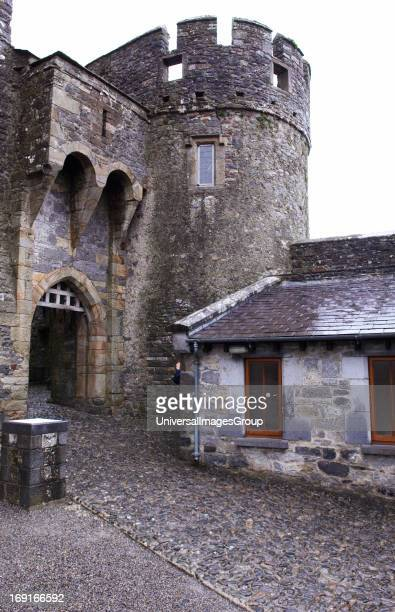 This portcullis is the only working portcullis in Ireland The traps above the portcullis enabled defenders to drop hot oil on attackers at Cahir...