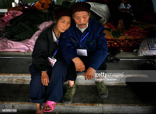 This Qiang couple Deng Jiachang who sat Tuesday beside his 65–year old wife Wu Guangfen have been married for forty years The earthquake forced them...