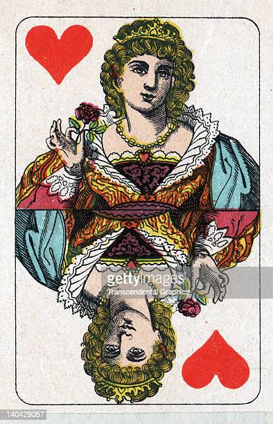 This Queen of Hearts playing card from a Dutch pack was printed in Belgium circa 1900