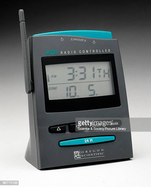 This radiocontrolled digital display clock was made by Oregon Scientific United States By the end of the 1990s radiocontrolled quartz clocks were...