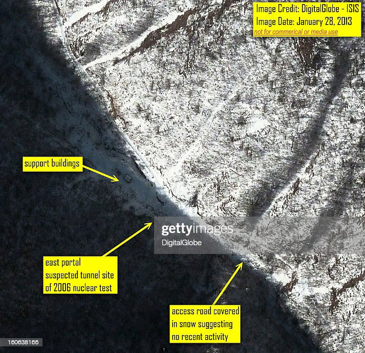 This satellite image of the Punggyeni Nuclear Test Facility in North Korea collected on January 28 2013