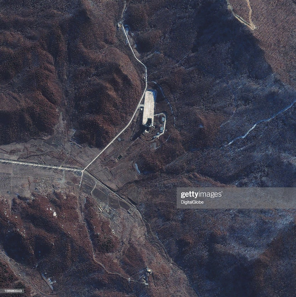 This satellite image of the Sohae Launch Facility on November 23, 2012, shows a marked increase in activity at North Korea's Sohae (West Sea) Satellite Launch Station. This activity is consistent with launch preparations as witnessed prior to the failed April 13, 2012 launch of the Unha 3 (i.e., Universe or Galaxy 3) space launch vehicle (SLV) carrying the Kwangmyongsong 3 (i.e., Bright Lodestar 3). Given the observed level of activity noted of a new tent, trucks, people and numerous portable fuel/oxidizer tanks, should North Korea desire- it could possibly conduct its fifth satellite launch event during the next three weeks