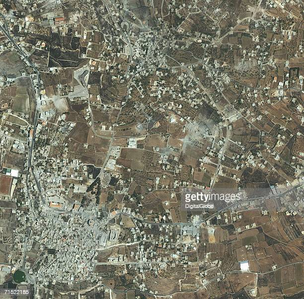 This satellite image shows Bint Jbail Lebanon July 25 2006 Bint Jbail has been the scene of recent fighting between Israel and Hezbollah in Lebanon...