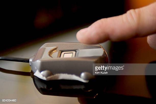 This security device used for ID verification by verifying user's fingerprint to access document on an Intelbased PC uses a motherboard with their...