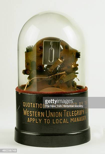 This selfwinding stock ticker was invented in 1923 by Western Union engineers 1923 For many years it was used for receiving stock and commodity...