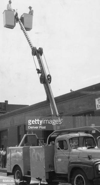This 'SkyMaster' hydraulic aerial beamcan be used to pluck cats from trees drunks from rivers or to make traffic light and utility line repairs...