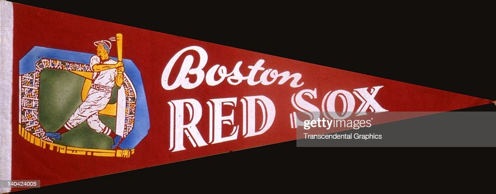 This souvenir pennant was issued by the Boston Red Sox in Boston Massachusetts circa 1940