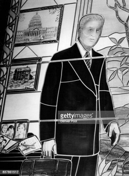 This stainedglass window honoring former Gov US Sen Edwin C Johnson was unveiled in Senate chambers opening day Wednesday Credit Denver Post