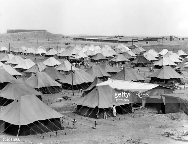 This tent refugee camp houses 1200 Muslim refugees There are about 200 tents in the camp but refugees continue to arrive and more are needed