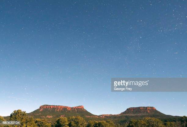 BLANDING UT MAY 12 This time exposed shot taken at midnight shows the stars and the two bluffs known as the 'Bears Ears' in the Bears Ears National...