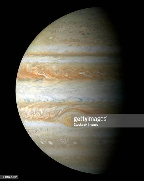 'This true color mosaic of Jupiter was constructed from images taken by the narrow angle camera onboard NASA's Cassini spacecraft on December 29, 2000.'