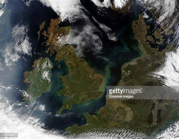 This true-color MODIS image showcases Northern Europe.