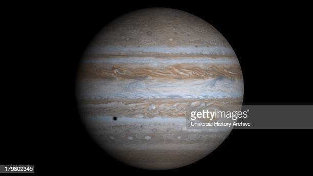This truecolor simulated view of Jupiter is composed of 4 images taken by NASA's Cassini spacecraft on December 7 2000