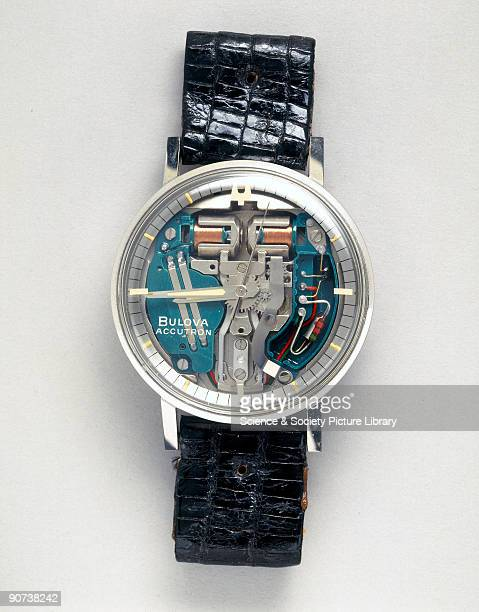 This tuning forkcontrolled batterypowered wristwatch was the world's first truly electronic watch It was designed by Max Hetzel and released in 1960...