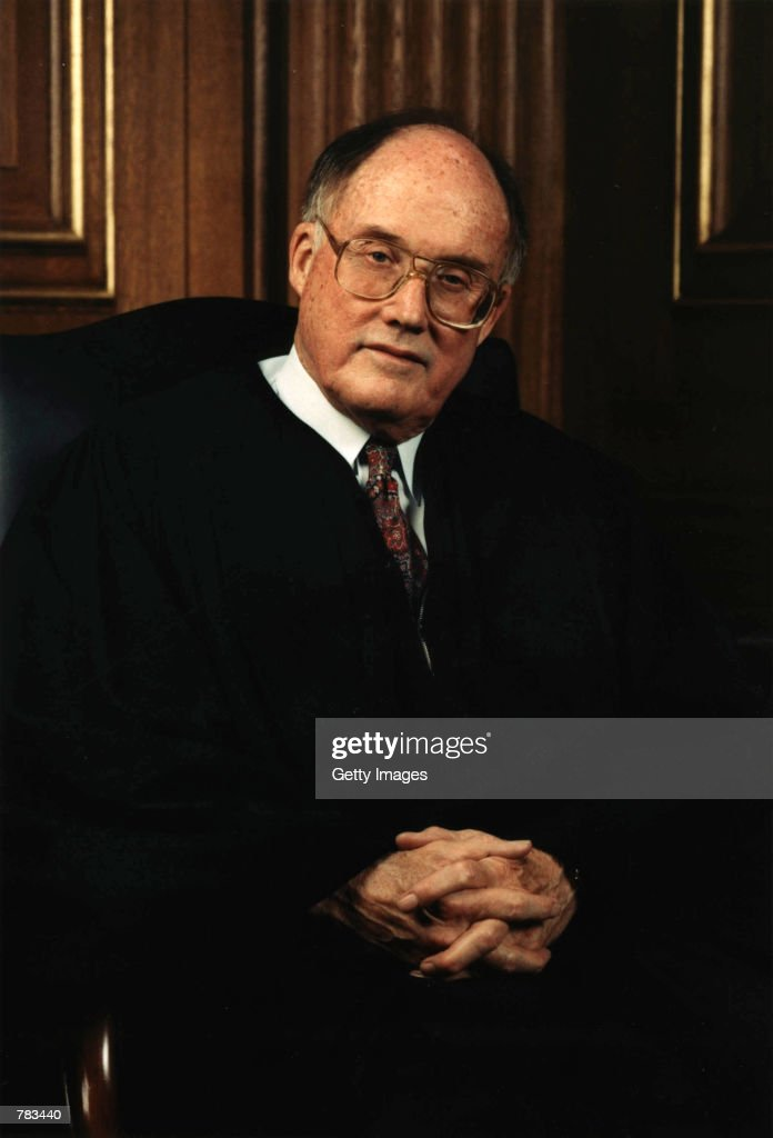 This undated file photo shows Chief Justice William H Rehnquist of the Supreme Court of the United States in Washington DC