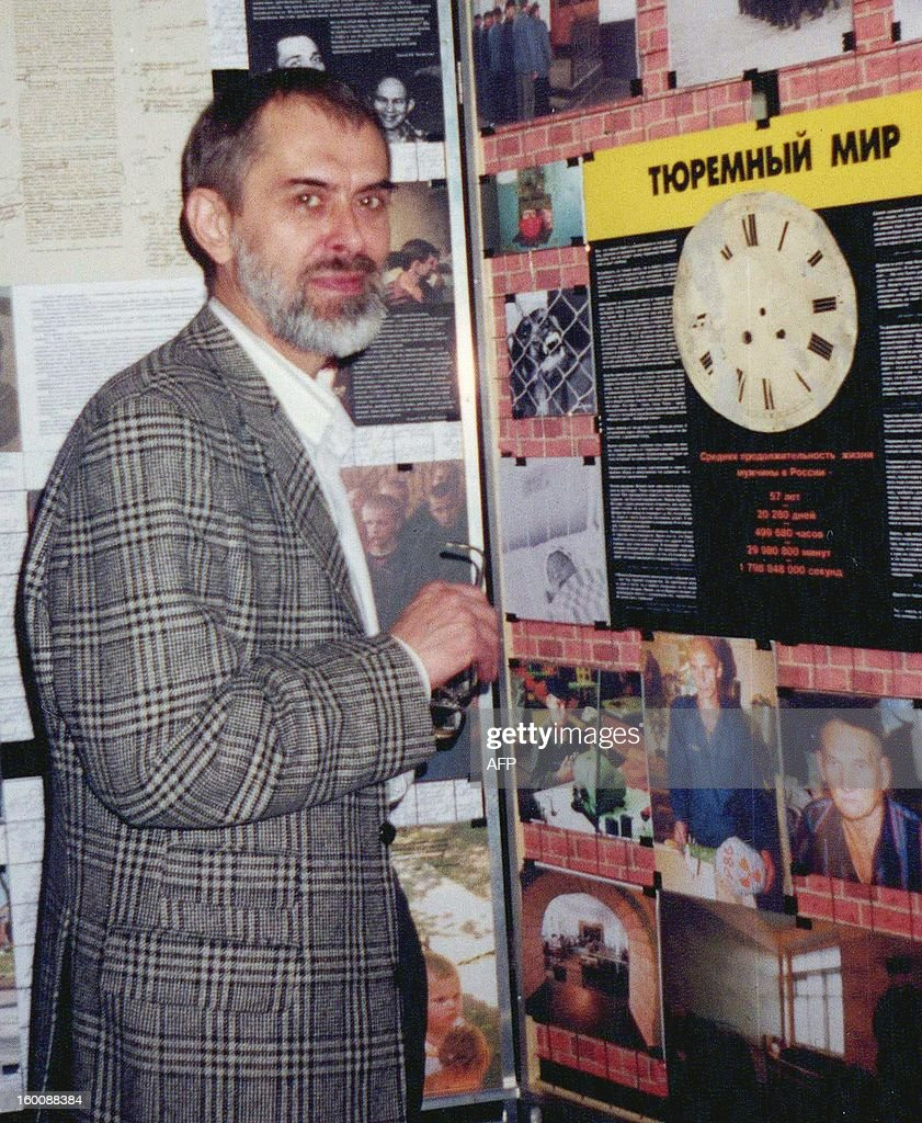 This undated file photo shows Valery Abramkin, a former Soviet political prisoner whose horrifying experiences prompted him to campaign for better prison conditions, who died at 66, the NGO that he headed announced on January 26, 2012.