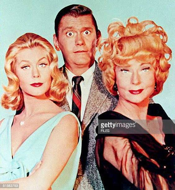 This undated file photo shpws US Actors Elizabeth Montgomery Dick York and Agnes Moorehead the stars of the 1960's television show 'Bewitched'...