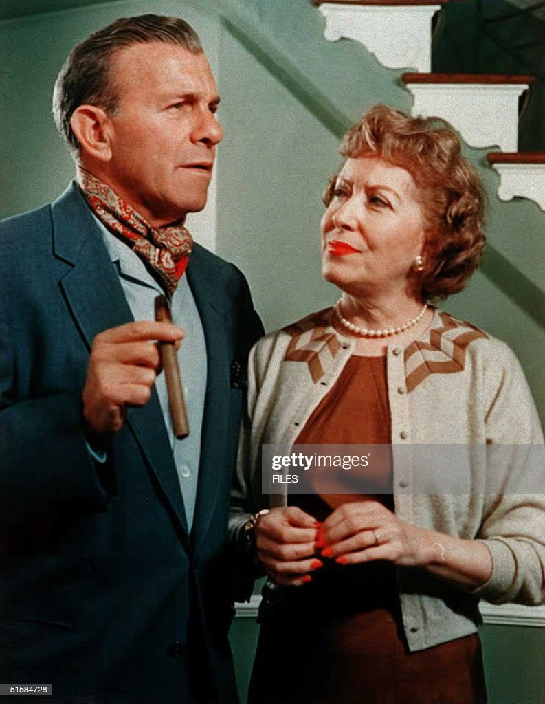 This undated file picture shows actors George Burns and his wife Gracie Allen George Burns died 09 March in his sleep after celebrating his 100th...