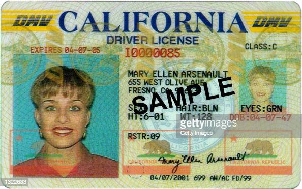 This undated photo shows a redesign of California''s State drivers license for the prevention of theft identity and reproduction The printing...