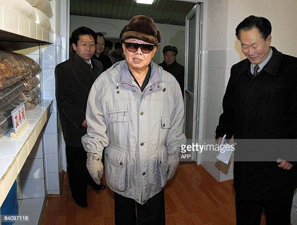 This undated picture released by Korean Central News Agency on December 19 2008 shows North Korean leader Kim Jong Il visiting a machine plant...