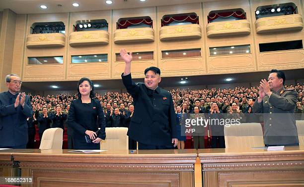 This undated picture released by North Korea's official Korean Central News Agency on May 13 2013 shows North Korean leader Kim Jong Un accompanied...