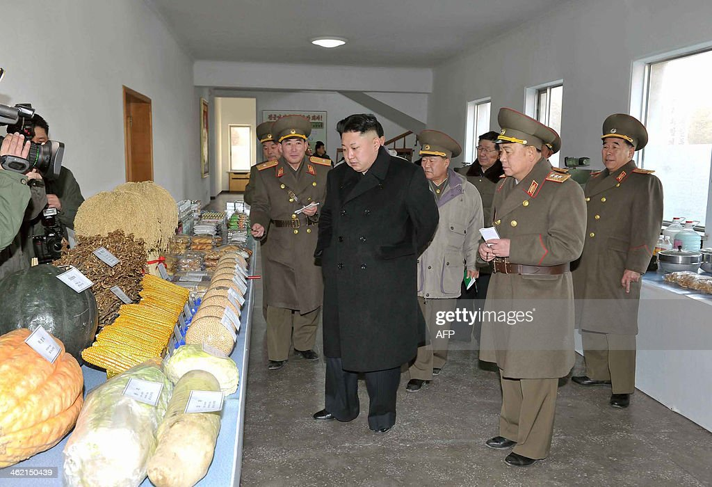 This undated picture released from North Korea's official Korean Central News Agency (KCNA) on January 12, 2014 shows North Korean leader <a gi-track='captionPersonalityLinkClicked' href=/galleries/search?phrase=Kim+Jong-Un&family=editorial&specificpeople=5964161 ng-click='$event.stopPropagation()'>Kim Jong-Un</a> (C) inspecting the command of Korean People's Army (KPA) Unit 534. AFP PHOTO / KCNA via KNS REPUBLIC OF KOREA OUT THIS PICTURE WAS MADE AVAILABLE BY A THIRD PARTY. AFP CAN NOT INDEPENDENTLY VERIFY THE AUTHENTICITY, LOCATION, DATE AND CONTENT OF THIS IMAGE. THIS PHOTO IS DISTRIBUTED EXACTLY AS RECEIVED BY AFP ---EDITORS NOTE--- RESTRICTED TO EDITORIAL USE - MANDATORY CREDIT 'AFP PHOTO / KCNA VIA KNS' - NO MARKETING NO ADVERTISING CAMPAIGNS - DISTRIBUTED AS A SERVICE TO CLIENTS